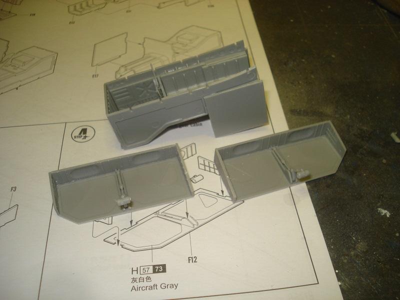 Landing gear bays.