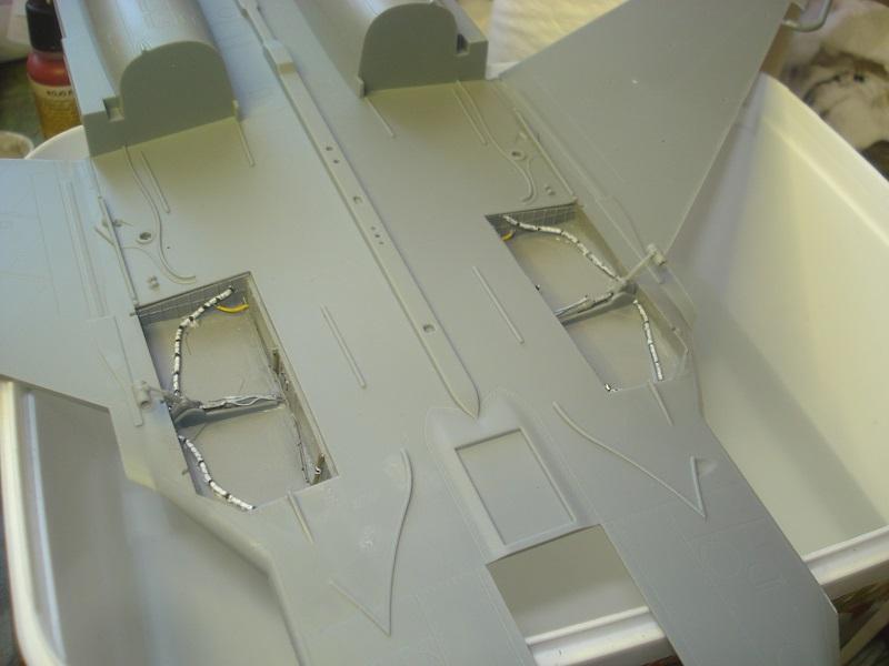 Wheel bays mounted.