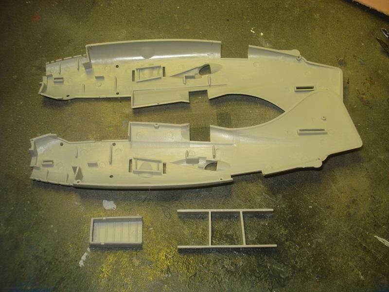 Fuselage parts.