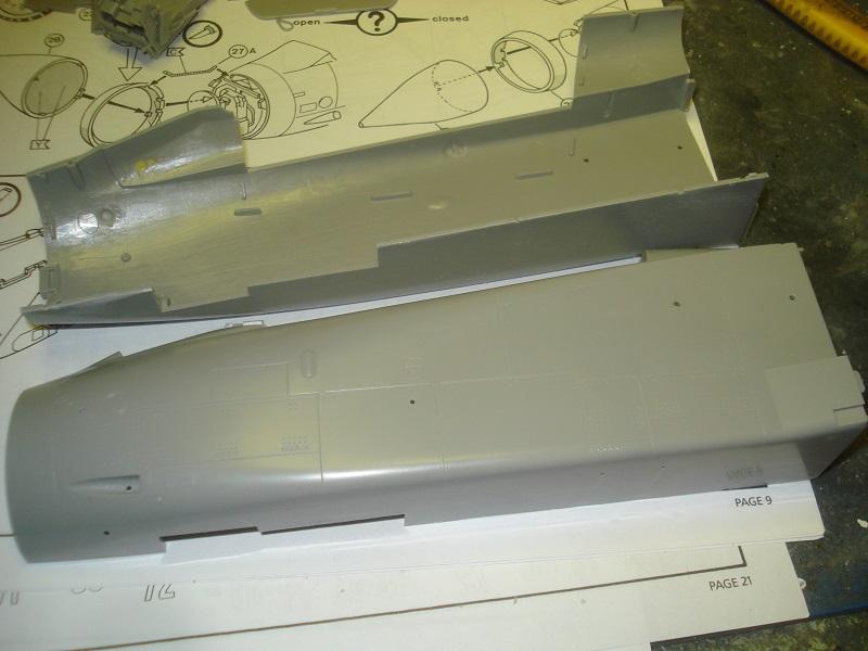Front fuselage halves.
