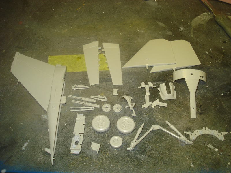 Parts prepared to get painted.