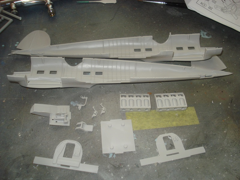 Fuselage and interior parts