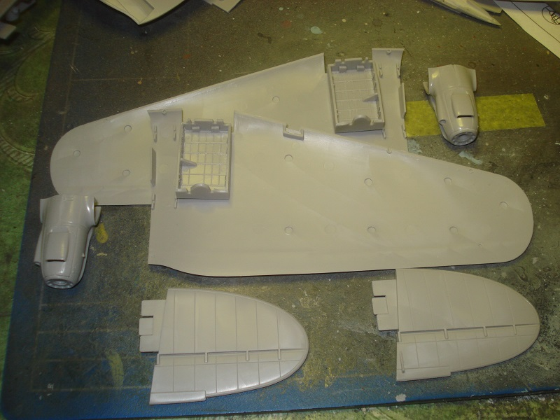 Wing parts, nacelles and stabilizors