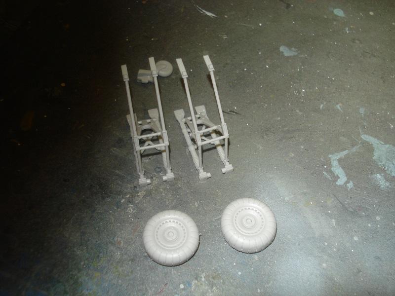 Landing gears assembled