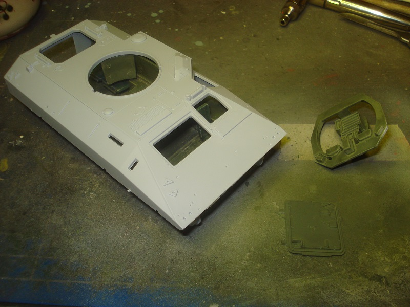 Upper hull glued