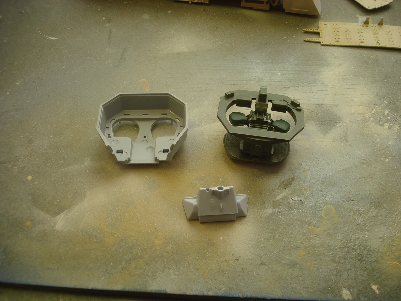 Turret parts, ready for assembly.