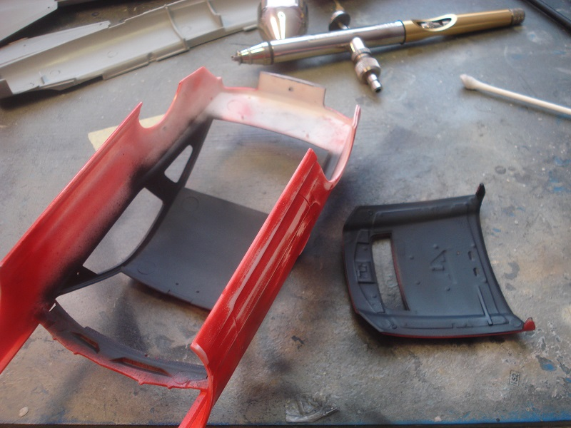 Roof and hood painted