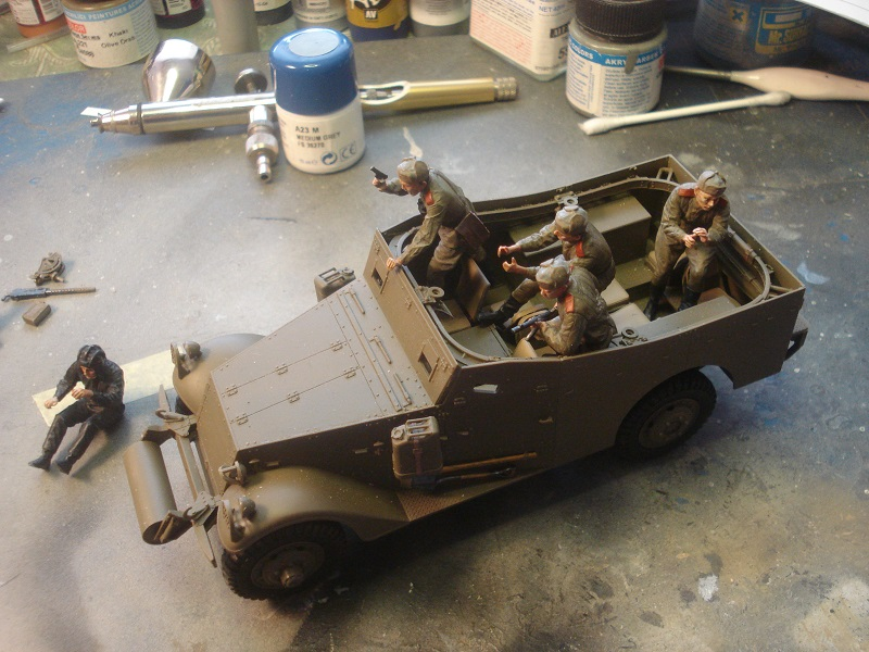 Figures placed in the car