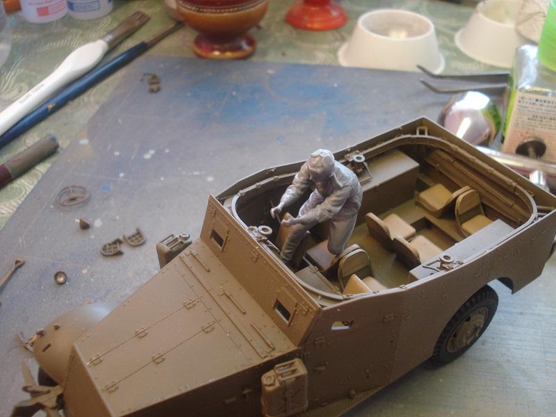Test fit of gunner