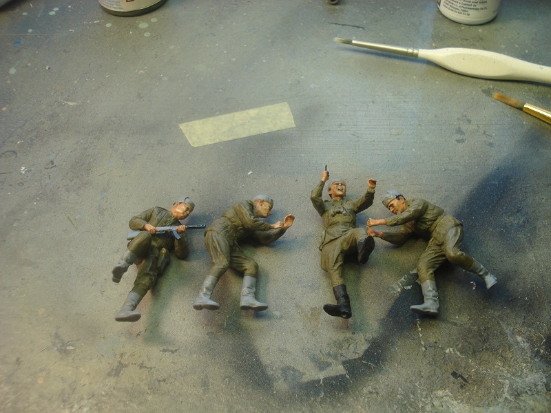 Uniforms painted