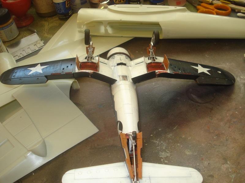 Landing gears in place