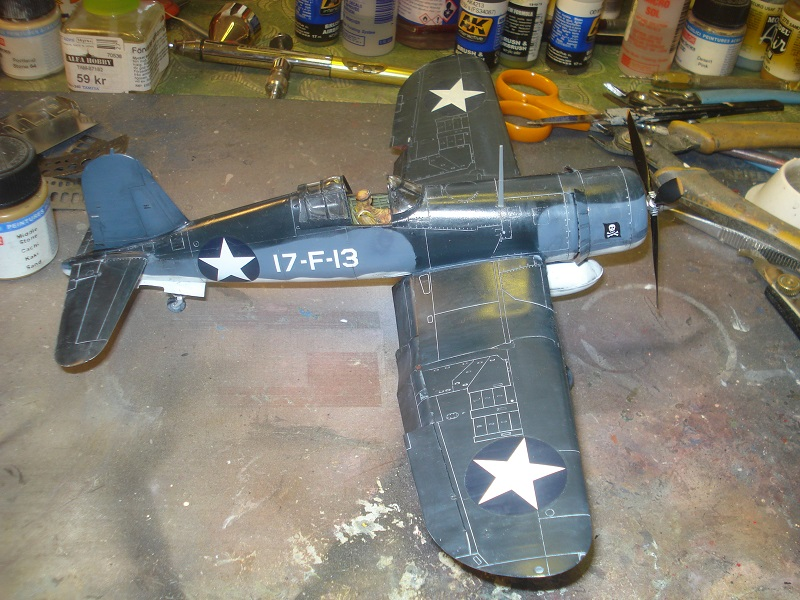 Topside with antenna glued in place